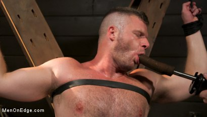 Photo number 4 from Built Boy Brian Bonds in Bondage takes Fat Toys, Tickling, Fucksaw shot for Men On Edge on Kink.com. Featuring Brian Bonds in hardcore BDSM & Fetish porn.