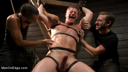Photo number 8 from Built Boy Brian Bonds in Bondage takes Fat Toys, Tickling, Fucksaw shot for Men On Edge on Kink.com. Featuring Brian Bonds in hardcore BDSM & Fetish porn.