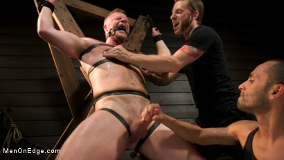 Built Boy Brian Bonds in Bondage takes Fat Toys, Tickling, Fucksaw