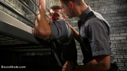Photo number 2 from BOUND PRISON Part 3: Paying The Piper shot for Bound Gods on Kink.com. Featuring Michael DelRay and Jeremy Spreadums in hardcore BDSM & Fetish porn.