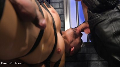 Photo number 13 from BOUND PRISON Part 3: Paying The Piper shot for Bound Gods on Kink.com. Featuring Michael DelRay and Jeremy Spreadums in hardcore BDSM & Fetish porn.