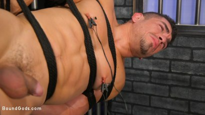 Photo number 18 from BOUND PRISON Part 3: Paying The Piper shot for Bound Gods on Kink.com. Featuring Michael DelRay and Jeremy Spreadums in hardcore BDSM & Fetish porn.
