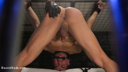 Photo number 30 from BOUND PRISON Part 3: Paying The Piper shot for Bound Gods on Kink.com. Featuring Michael DelRay and Jeremy Spreadums in hardcore BDSM & Fetish porn.