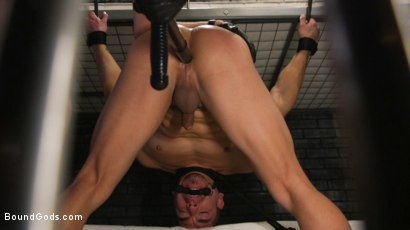 Photo number 33 from BOUND PRISON Part 3: Paying The Piper shot for Bound Gods on Kink.com. Featuring Michael DelRay and Jeremy Spreadums in hardcore BDSM & Fetish porn.