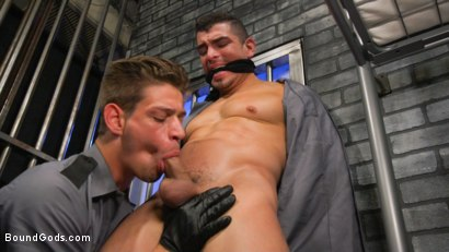 Photo number 7 from BOUND PRISON Part 3: Paying The Piper shot for Bound Gods on Kink.com. Featuring Michael DelRay and Jeremy Spreadums in hardcore BDSM & Fetish porn.