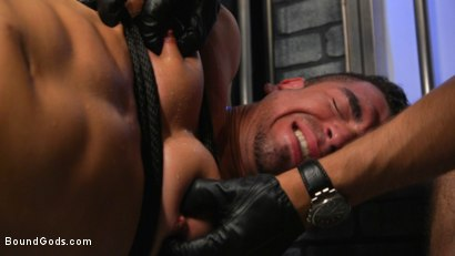 Photo number 25 from BOUND PRISON Part 3: Paying The Piper shot for Bound Gods on Kink.com. Featuring Michael DelRay and Jeremy Spreadums in hardcore BDSM & Fetish porn.
