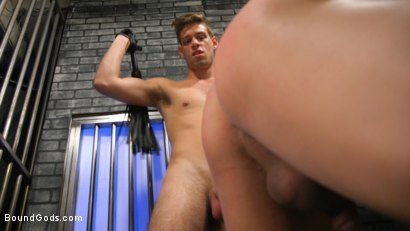 Photo number 31 from BOUND PRISON Part 3: Paying The Piper shot for Bound Gods on Kink.com. Featuring Michael DelRay and Jeremy Spreadums in hardcore BDSM & Fetish porn.