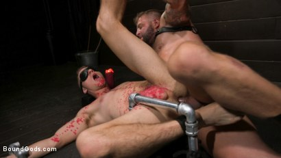Photo number 11 from Daddy's Boy: Leather Daddy Colby Jansen dominates Zak Bishop  shot for Bound Gods on Kink.com. Featuring Zak Bishop and Colby Jansen in hardcore BDSM & Fetish porn.