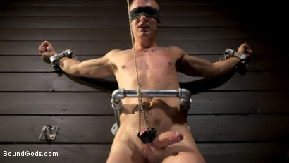 Photo number 5 from Daddy's Boy: Leather Daddy Colby Jansen dominates Zak Bishop  shot for Bound Gods on Kink.com. Featuring Zak Bishop and Colby Jansen in hardcore BDSM & Fetish porn.