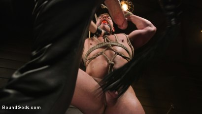 Photo number 13 from Beefcakes Pierce Paris and Blake Hunter Battle for Dominance! shot for Bound Gods on Kink.com. Featuring Blake Hunter and Pierce Paris in hardcore BDSM & Fetish porn.