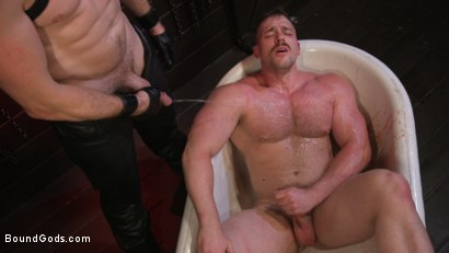 Photo number 8 from Beefcakes Pierce Paris and Blake Hunter Battle for Dominance! shot for Bound Gods on Kink.com. Featuring Blake Hunter and Pierce Paris in hardcore BDSM & Fetish porn.
