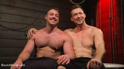 Photo number 14 from Beefcakes Pierce Paris and Blake Hunter Battle for Dominance! shot for Bound Gods on Kink.com. Featuring Blake Hunter and Pierce Paris in hardcore BDSM & Fetish porn.