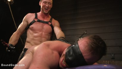 Photo number 3 from Beefcakes Pierce Paris and Blake Hunter Battle for Dominance! shot for Bound Gods on Kink.com. Featuring Blake Hunter and Pierce Paris in hardcore BDSM & Fetish porn.