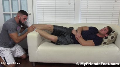 Photo number 3 from Connor Maguire's Socks & Feet Worshiped shot for My Friends Feet on Kink.com. Featuring Connor Maguire and Ricky Larkin in hardcore BDSM & Fetish porn.