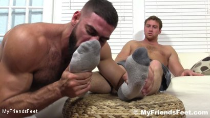 Photo number 8 from Connor Maguire's Socks & Feet Worshiped shot for My Friends Feet on Kink.com. Featuring Connor Maguire and Ricky Larkin in hardcore BDSM & Fetish porn.
