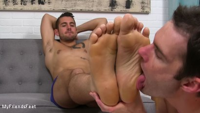 Photo number 16 from Dante Colle's New Worshiper shot for My Friends Feet on Kink.com. Featuring Cameron Kincade and Dante Colle in hardcore BDSM & Fetish porn.
