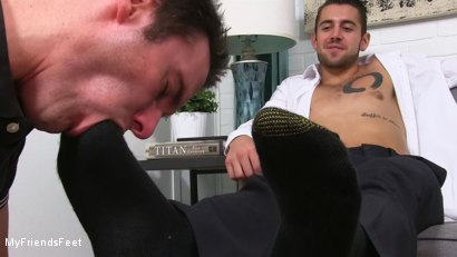 Photo number 7 from Dante Colle's New Worshiper shot for My Friends Feet on Kink.com. Featuring Cameron Kincade and Dante Colle in hardcore BDSM & Fetish porn.