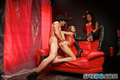 Photo number 17 from Jessica Jaymes: Demon Lust shot for  on Kink.com. Featuring Chloe Amour, Jessica Jaymes and Tommy Gunn in hardcore BDSM & Fetish porn.
