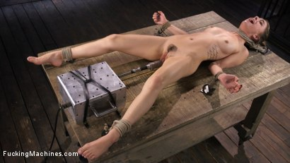 Photo number 11 from Girl Next Door Bound and Machine Fucked and Sybian shot for Fucking Machines on Kink.com. Featuring Kristen Scott in hardcore BDSM & Fetish porn.
