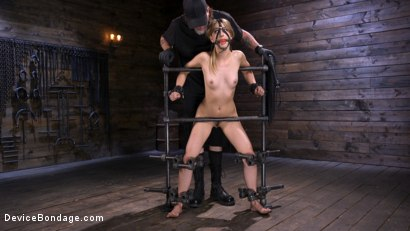 Photo number 2 from Beauty and The Beast: Kristen Scott vs The Pope shot for Device Bondage on Kink.com. Featuring Kristen Scott in hardcore BDSM & Fetish porn.