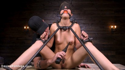 Photo number 9 from Beauty and The Beast: Kristen Scott vs The Pope shot for Device Bondage on Kink.com. Featuring Kristen Scott in hardcore BDSM & Fetish porn.