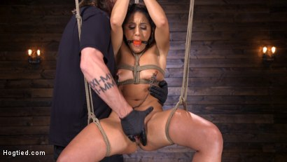 Photo number 8 from Sexy Latina Liv Revamped Captured and Tormented in Grueling Bondage shot for Hogtied on Kink.com. Featuring Liv Revamped in hardcore BDSM & Fetish porn.