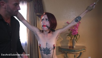 Photo number 3 from The Convenient Wife shot for Sex And Submission on Kink.com. Featuring Stirling Cooper  and Lola Fae in hardcore BDSM & Fetish porn.