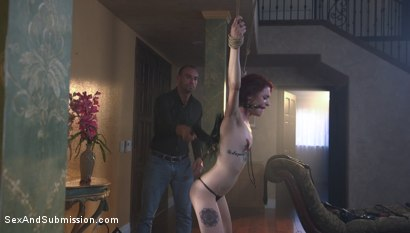 Photo number 4 from The Convenient Wife shot for Sex And Submission on Kink.com. Featuring Stirling Cooper  and Lola Fae in hardcore BDSM & Fetish porn.