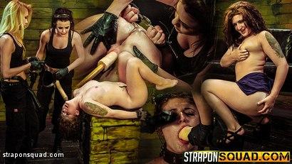 Sex Slave Aryah May is Used & Wrecked by Mila Blaze & Brooklyn Daniels