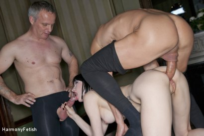 Photo number 13 from Tattooed Whore gets Spitroasted shot for Harmony Fetish on Kink.com. Featuring Ian Tate, Tony De Sergio and Sofia Valentine in hardcore BDSM & Fetish porn.