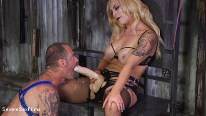 Photo number 14 from Cock hungry slave submits to his Mistress shot for Severe Sex Films on Kink.com. Featuring D. Arclyte and Mistress Bella Bathory in hardcore BDSM & Fetish porn.