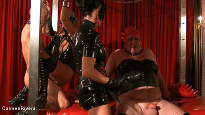 Photo number 16 from Born to be Wide: Chapter Three shot for Carmen Rivera on Kink.com. Featuring Rosi Rosetta, Carmen Rivera, Mister P., Miss Chantalle and Lady Nancy in hardcore BDSM & Fetish porn.