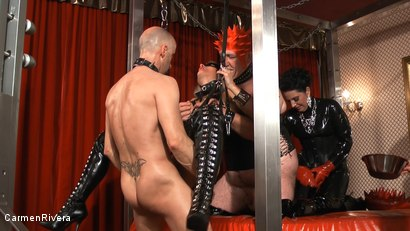 Photo number 17 from Born to be Wide: Chapter Three shot for Carmen Rivera on Kink.com. Featuring Rosi Rosetta, Carmen Rivera, Mister P., Miss Chantalle and Lady Nancy in hardcore BDSM & Fetish porn.