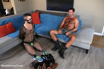 Photo number 2 from Nylon Daddies shot for Gentlemens Closet on Kink.com. Featuring Conrad Logun and Anthony London in hardcore BDSM & Fetish porn.