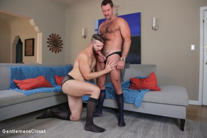 Photo number 12 from Nylon Daddies shot for Gentlemens Closet on Kink.com. Featuring Conrad Logun and Anthony London in hardcore BDSM & Fetish porn.