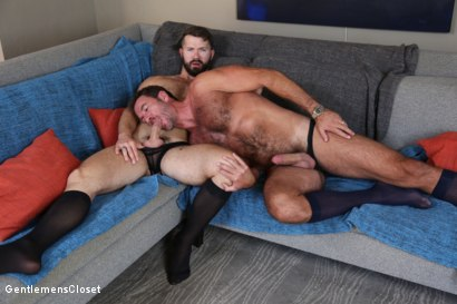 Photo number 15 from Nylon Daddies shot for Gentlemens Closet on Kink.com. Featuring Conrad Logun and Anthony London in hardcore BDSM & Fetish porn.