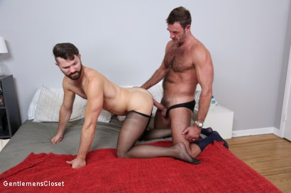 Photo number 17 from Nylon Daddies shot for Gentlemens Closet on Kink.com. Featuring Conrad Logun and Anthony London in hardcore BDSM & Fetish porn.