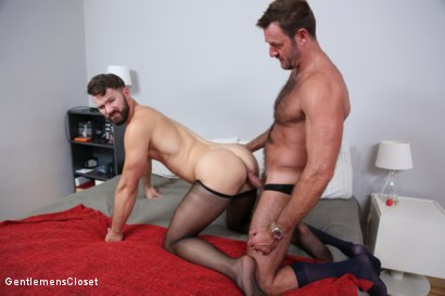 Photo number 19 from Nylon Daddies shot for Gentlemens Closet on Kink.com. Featuring Conrad Logun and Anthony London in hardcore BDSM & Fetish porn.