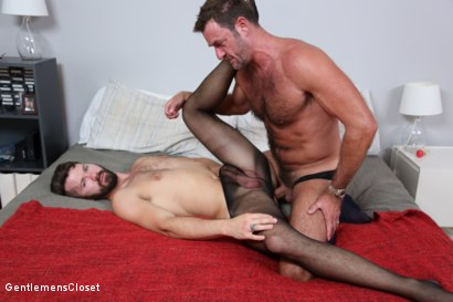 Photo number 21 from Nylon Daddies shot for Gentlemens Closet on Kink.com. Featuring Conrad Logun and Anthony London in hardcore BDSM & Fetish porn.