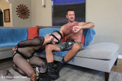 Photo number 6 from Nylon Daddies shot for Gentlemens Closet on Kink.com. Featuring Conrad Logun and Anthony London in hardcore BDSM & Fetish porn.