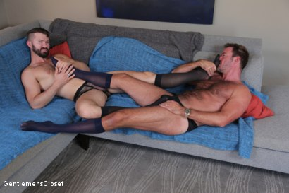 Photo number 7 from Nylon Daddies shot for Gentlemens Closet on Kink.com. Featuring Conrad Logun and Anthony London in hardcore BDSM & Fetish porn.