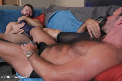 Photo number 8 from Nylon Daddies shot for Gentlemens Closet on Kink.com. Featuring Conrad Logun and Anthony London in hardcore BDSM & Fetish porn.