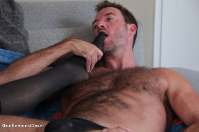 Photo number 9 from Nylon Daddies shot for Gentlemens Closet on Kink.com. Featuring Conrad Logun and Anthony London in hardcore BDSM & Fetish porn.