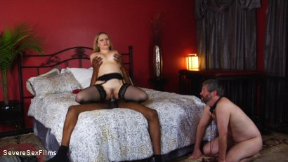 Photo number 16 from Unsatisfied Wife Treats Herself to Fabulously Huge Cock shot for Severe Sex Films on Kink.com. Featuring Aiden Starr, Isiah Maxwell and Jimmy Broadway in hardcore BDSM & Fetish porn.