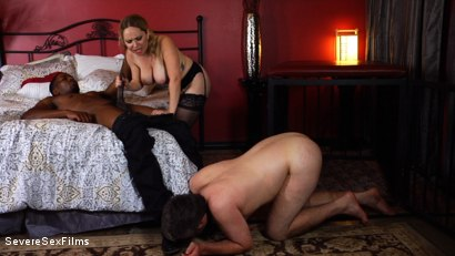 Photo number 5 from Unsatisfied Wife Treats Herself to Fabulously Huge Cock shot for Severe Sex Films on Kink.com. Featuring Aiden Starr, Isiah Maxwell and Jimmy Broadway in hardcore BDSM & Fetish porn.
