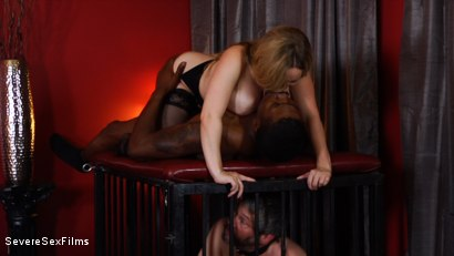 Photo number 10 from Unsatisfied Wife Treats Herself to Fabulously Huge Cock shot for Severe Sex Films on Kink.com. Featuring Aiden Starr, Isiah Maxwell and Jimmy Broadway in hardcore BDSM & Fetish porn.