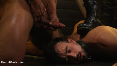 Photo number 19 from Dungeon Muscle Challenge: Two Pain Sluts Pushed To Their Limits shot for Bound Gods on Kink.com. Featuring Sebastian Keys, Mason Lear  and Draven Navarro in hardcore BDSM & Fetish porn.