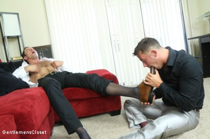 Photo number 18 from Dressed Up shot for Gentlemens Closet on Kink.com. Featuring Nick Capra and Derrick Collins in hardcore BDSM & Fetish porn.