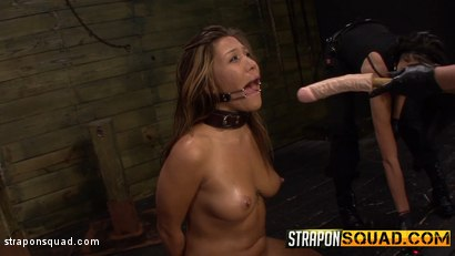 Photo number 4 from Brooklyn Daniels & Ava Kelly Give Smart Mouth Sex Slave Mena Li More Training shot for Strapon Squad on Kink.com. Featuring Mena Mason, Brooklyn Daniels and Ava Kelly in hardcore BDSM & Fetish porn.
