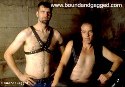 Photo number 3 from Masters & Slaves 2: Coming Together  shot for Bound And Gagged on Kink.com. Featuring Jason Branch, Steve Ross, Jay Ross, Aaron Tanner and Tony Ferrari in hardcore BDSM & Fetish porn.